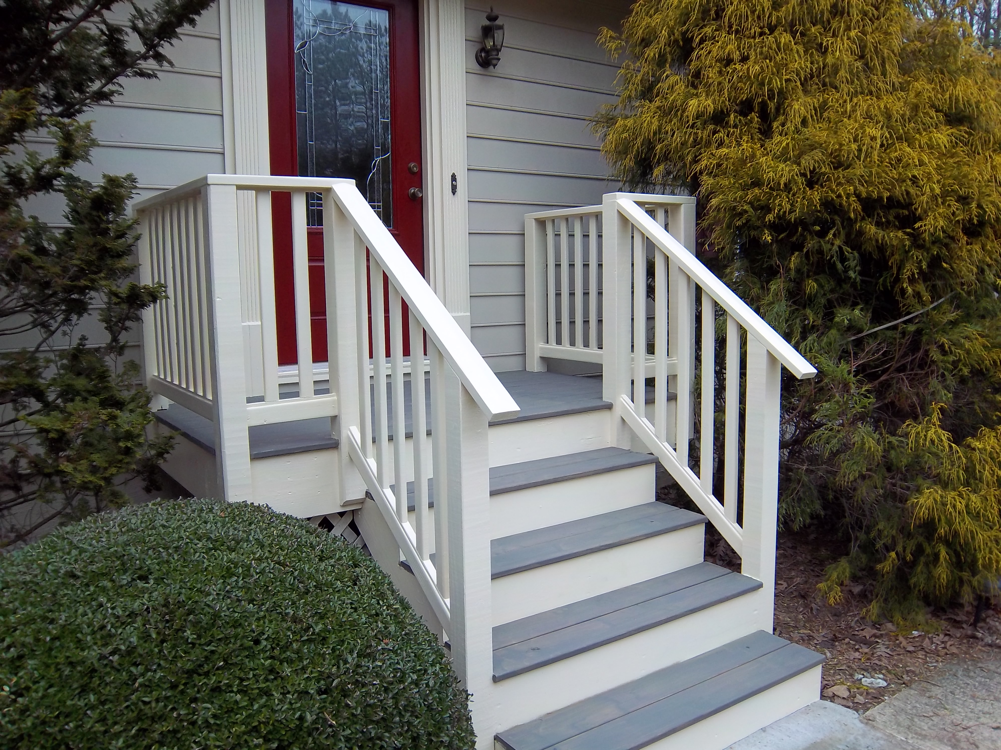Front porch face lift robert s shuping wood works for Steps in building a home