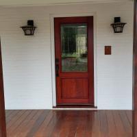 Custom made Padauk Entry Door.