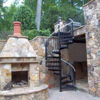 Spiral Staircase kit with custom landing
