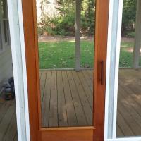 Mahogany screened doors made in my shop.