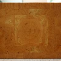 """Quarter grain matched Cherry Board. Dimensions are 13 1/4""""wide, 11 1/4"""" wide, and 1 1/4"""" thick."""