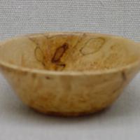 small maple burl bowl