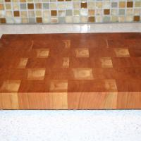 Traditional Cherry butcher block.