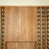 Quartersawn White Oak doors for the upper storage.